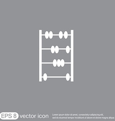 Old retro abacus icon vector