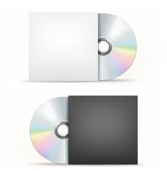 Cd-dvd disc and cover vector