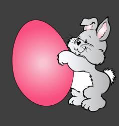 Cartoon easter bunny vector