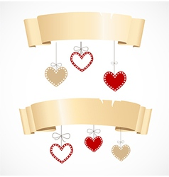 Banners for valentines day vector