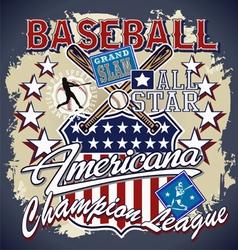 Baseball americana vector
