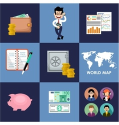 Finance  banking set vector