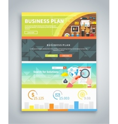 Infographic business brochures banners set vector
