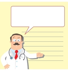 Design template with funny doctor vector