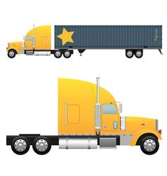 Heavy cargo truck vector