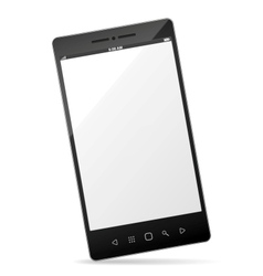 Realistic smartphone with empty touchscreen vector