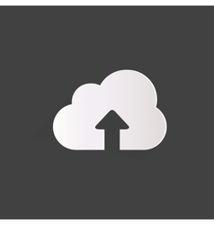 Cloud upload application web icon vector