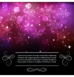 Christmas snowflkes background vector