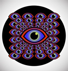 Psychedelic eye vector