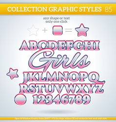 Girls graphic styles for design use for decor text vector