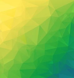Yellow green diagonal polygonal triangular pattern vector