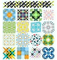 Geometric pattern set vector
