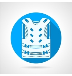 Paintball vest round icon vector