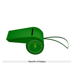 Green whistle of the republic of adygea vector