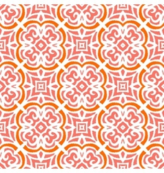 Art deco pattern with organic floral shapes vector