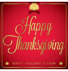 Typographic elegant thanksgiving card in format vector