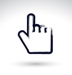 Point hand gesture created with real hand drawn vector