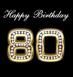 80th happy birthday vector