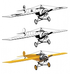 Monoplane design vector