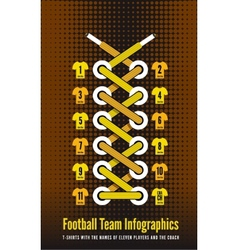 Shoelace as a football or soccer infographic vector