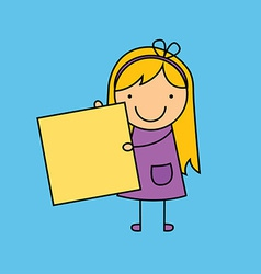 Child cartoon design vector