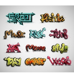 Set of graffiti vector