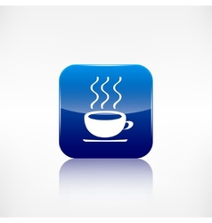 Hot drink web icon application button vector