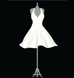 White dress vector