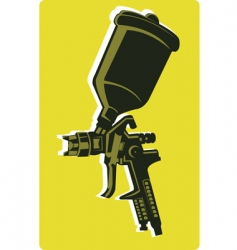 Spray gun vector