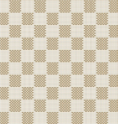 Square beige seamless fabric texture pattern vector