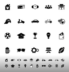 Normal gentleman icons on white background vector