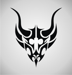 Tribal demon head vector