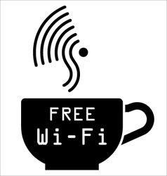 Internet cafe free wifi symbol vector