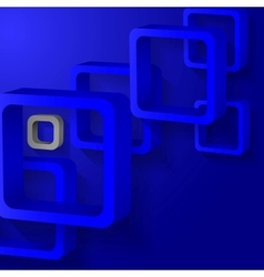Abstract blue squares vector