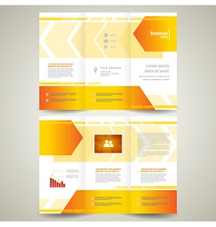 Brochure design leaflet geometric abstract arrow vector