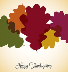 Acorn leaf thanksgiving card in format vector