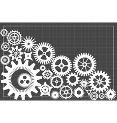 Gearwheels background vector