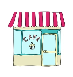 Cute street cafe vector