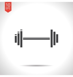Dumbbell icon eps10 vector
