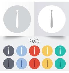 Tie slim sign icon business clothes symbol vector