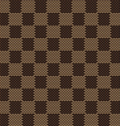 Square brown beige seamless fabric texture pattern vector