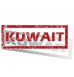 Kuwait outlined stamp vector