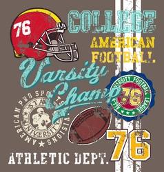 American football varsity vector