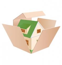 House in a box vector