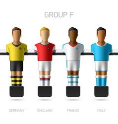 Table football foosball players group f vector