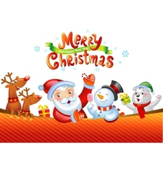 Christmas background with santa claus vector