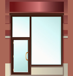 Shop window vector