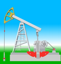 Oil pump jack oil industry equipment vector