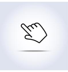 Hand cursor vector