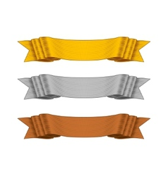 Shaded ribbons for your design project vector